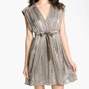 JESSICA SIMPSON Vintage Look Pewter Dress